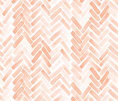pale blush watercolor herringbone fabric by mrshervi on Spoonflower - custom fabric