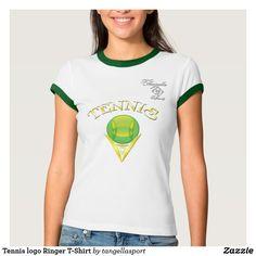Tennis logo Ringer T-Shirt