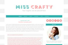 Check out Premade Blogger Template Miss Crafty by ShinyMagic on Creative Market. Fun yet will still let the photos and content shine.