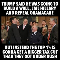 They want to get rid of Medicare. So all those little old ladies and men who voted for Trump can whine about how they cant afford their healthcare.