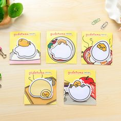 MQStyle 20Pcs/Pack Cartoon Cute Gudetama Lazy Egg Post It N Times Memo Pad Notebook Student Sticky School Label Gift E0090 #Affiliate