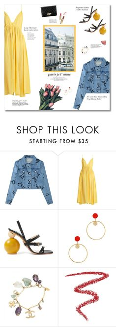 """Paris in Spring"" by igedesubawa ❤ liked on Polyvore featuring Être Cécile, Loup Charmant, Jacquemus, Marc Jacobs, Bensimon, Dinosaur Designs, Chanel, Bela, Franke and By Terry"