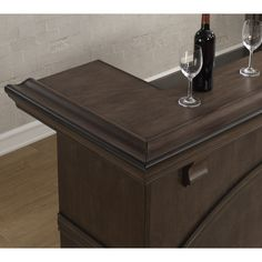 Darby Home Co Bar with Wine Storage