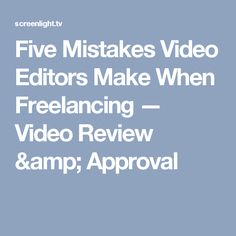 Freelance Video Editor Jobs Employment  IndeedCom  Freelancing