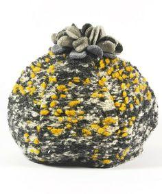 Look at this #zulilyfind! Yellow Flower Pom-Pom Barret #zulilyfinds