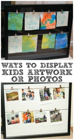 Gorgeous Ways to Display Kids Art Work - In The Playroom