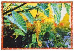 Joseph Raffael, A Golden Pond, 2010, watercolor on paper, 44 3/4 x 65 3/4 inches