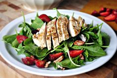 Simply Scratch » Sister Night Strawberry and Spinach Salad