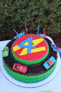 Coles 4th birthady race car cake!