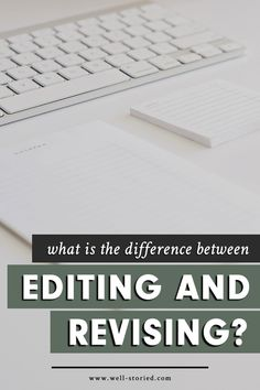 What's the difference between editing and revising? And what tasks must you complete to accomplish both? Let's discuss in today's new article, writers! Copy Editing, Editing Writing, Fiction Writing, Writing Advice, Writing Process, Writing Styles, Writing Resources, Writing A Book, Editing Skills