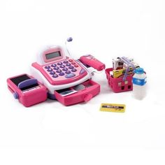 Just Like Home Cash Register - Colors may vary Color: Colors may vary, Model: 834275005459, Toys and Play * Click image to review more details.