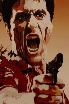 Tony Montana, Al Pacino, Scarface Scarface Poster, Scarface Movie, Al Pacino, Michelle Pfeiffer, Mafia, Montana, Scared Face, Don Corleone, Fanart