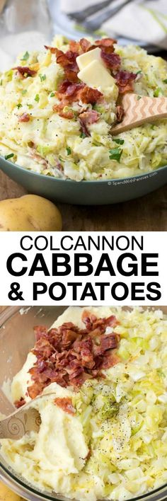 Colcannon is the perfect dish for St. Patrick's Day! Combining the flavors of sweet cabbage, fried onion and creamy mashed potatoes creates a traditional Irish dish that will fill the family and leave them feeling satisfied!