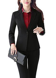 7fec97758bf3 SK Studio Femmes Blazer Tailleurs Pantalons De Bureau 2 Pièces Revers  Casual Costume Manteau  Amazon.fr  Vêtements et accessoires