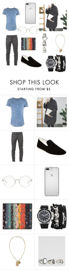 """Untitled #137"" by anavalentinsoto on Polyvore featuring Boohoo, Dondup, Steve Madden, Ray-Ban, Speck, Paul Smith, A.X.N.Y., Versace and Reclaimed Vintage"