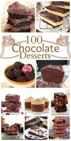 100 scrumptious chocolate desserts - A little bit of everything