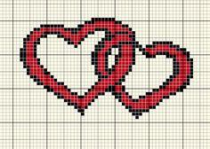 Cross Stitch Alphabet Patterns, Wedding Cross Stitch Patterns, Cross Patterns, Square Patterns, Perler Patterns, Crochet Stitches Patterns, Sewing Patterns, Cross Stitch Heart, Cross Stitch Cards