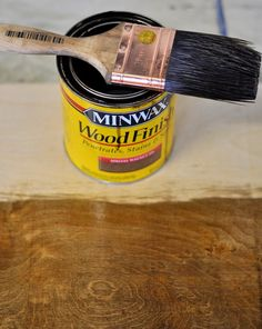 Minwax Dark Walnut on birch plywood- for hutch counter redo House Painting, Diy Painting, Stain On Pine, Stain Wood, Minwax Colors, Middle Earth Map, Walnut Plywood, Plywood Shelves