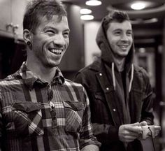 you think I'm listening to you talk, but really I'm looking at pictures of Josh Dun and Tyler Joseph.