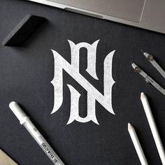 Monogram NS by Don't you love this? Double tap and SAVE it for. Ns Logo, Type Logo, Bakery Logo Design, Branding Design, Logo Branding, Corporate Branding, Brand Identity, Fashion Logo Design, Photography Logo Design