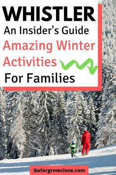 Amazing Whistler Winter Activities With Kids - Whistler is known for its amazing skiing and snowboarding. However, it has so many other amazing wi - Winter Activities, Outdoor Activities, Travel With Kids, Family Travel, Family Vacation Destinations, Vacation Ideas, Travel Destinations, Village Photos, Visit Canada