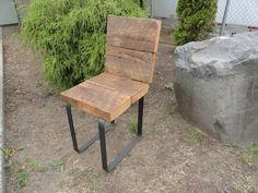 CUSTOM 4 Industrial Chairs on Etsy, $356.00