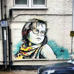 Alice Pasquini is an artist based in Roma : painting, illustration, installations and animation are her main tools to create her poetical artworks which are usually featuring children at play or couples in love.  Earlier today, the Italian artist just completed this new piece on the streets of London for the WallsProject.  If you are in the area, this one can be seen on Assam Street off Whitechurch Lane.