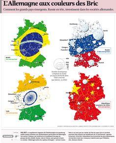 L'Allemagne aux couleurs des Bric Comment les grands pays émergents, Russie en tête, investissent dans les sociétés allemandes.