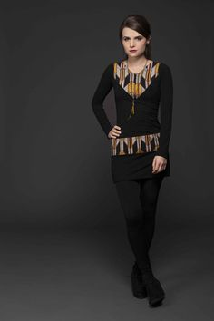 Tunique Col V Zig-Zag | Cherry Bobin Fall Winter 2014, Dress Skirt, Punk, Skirts, Collection, Style, Dresses, Fashion, Tunic