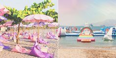 This Magical Unicorn Island Made of Pool Floats Exists IRL - Cosmopolitan.com