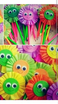 Rainbow Flower Craft for Kids using a fun spin art painting technique Cute Kids Crafts, Spring Crafts For Kids, Summer Crafts, Preschool Crafts, Easter Crafts, Art For Kids, Christmas Crafts, Hobbies And Crafts, Diy And Crafts