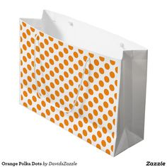 Orange Polka Dots Gift Bag This design is available on many products! Click the 'available on' tab near the product description to see them all! Thanks for looking!  @zazzle #art #polka #dots #pattern #wrapping #paper #gift #bag #tag #birthday #holiday #color #black #white #blue #green #orange #yellow #purple #aqua #shop #buy #fun #chic #wrap #modern #classic #simple #easy #design #tag #ribbon #tissue