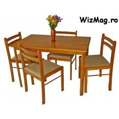 Set masa din lemn cu 4 scaune MB-16 Outdoor Furniture Sets, Outdoor Decor, Home Decor, Decoration Home, Room Decor, Home Interior Design, Home Decoration, Interior Design