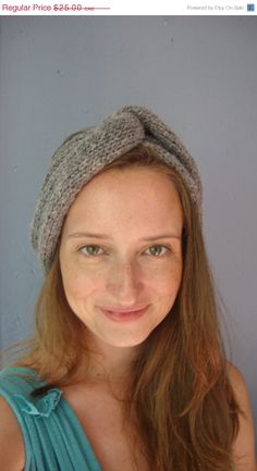Cyber Monday Sale Today, 20% off already reduced prices ON SALE knitted headband /  retro turban style / by purlknitting, $20.00