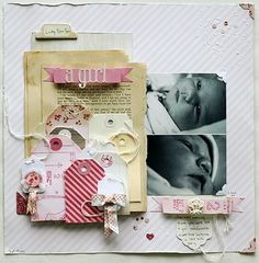 by Ashley C. from Crate Paper blog ~ really love that cluster of tags!!