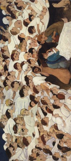 Brian Kershisnik, Nativity, 2006. Catholic Art, Religious Art, Illustrations, Illustration Art, Arte Lds, Brian Kershisnik, Spiritual Photos, Pictures Of Christ, Lds Art