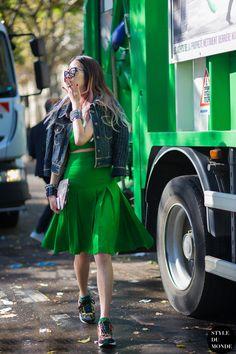 Irene Kim - Paris FW Spring 2015 Street Style