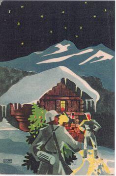 German christmas postcard