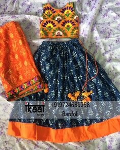 Lehngha set For navaratri Chaniya Choli For Kids, Lehanga For Kids, Kids Lehenga Choli, Kids Lehanga Design, Girls Party Dress, Little Girl Dresses, Baby Dress, Girls Dresses, Kids Indian Wear