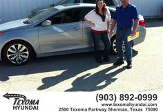 Gary Ross and Duane Adams were amazing salesmen! I would definitely recommend everyone to come see them! Will definitely be coming back! - Priscilla De Alajandro, Saturday, March 28, 2015  http://www.texomahyundai.com/?utm_source=Flickr&utm_medium=Dmaxx&utm_campaign=DeliveryMaxx