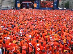 The way Holland turns Orange, when our national football team plays. Crazy in Orange