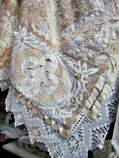 Suziqu's Threadworks: Layers and Layers of Collaged Lace and Doilies