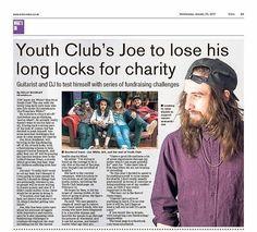 Youth Club, Long Locks, Charity, Dj, Challenges, Baseball Cards, Sports, Hs Sports, Sport