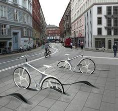El futuro de la bicicleta en Copenhague  El fomento del uso de la bicicleta se está extendiendo cada vez en más ciudades. Para favorecer su utilización tiene que implantarse un sistema eficaz que permita encontrar y utilizarlas.  El estudio de arquitectura RAFAA nos presentasus ideas para la ciudad de Copenhague, con las que estiman que el número de usuarios se podría incrementar desde el 37% actual hasta un 50% en 2015.