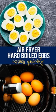 Air fryer hard boiled eggs are cooked through in 16 minutes, peel easily, and are perfectly cooked each and every time! This is such a simple way to cook them. #sweetpeasandsaffron #airfryer #snack #readyunder30 #mealprep #healthysnack Best Breakfast Recipes, Easy Dinner Recipes, Snack Recipes, Healthy Chips, Healthy Snacks, Healthy Recipes, Hard Boiled, Boiled Eggs, Study Snacks