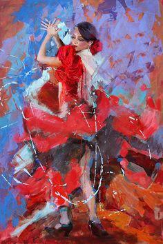 Flamenco 48 Painting