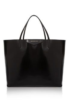 Givenchy Large Antigona shopping bag in shiny black leather Black Leather Tote, Shopper, Beautiful Bags, Clutch Purse, Love, Purses And Handbags, Shopping Bag, Tote Bag, Givenchy Antigona