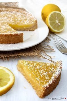 Crostata al limone Lemon Recipes, Sweet Recipes, Cake Recipes, Dessert Recipes, Vegan Sweets, Vegan Desserts, Delicious Desserts, Torte Cake, Vegan Cake