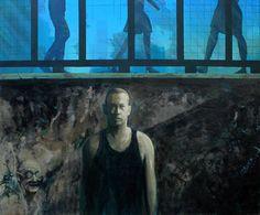 One of those days, 120cm x 100cm, Acrylic on canvas, 2014.