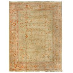 Antique Oushak Turkish Rug  | From a unique collection of antique and modern turkish rugs at http://www.1stdibs.com/furniture/rugs-carpets/turkish-rugs/